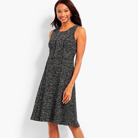 1c17509a3e9 Talbots Sleeveless Berkley Tweed Fit   Flare Dress.  M 5b4e6ef08869f78ebbbca522